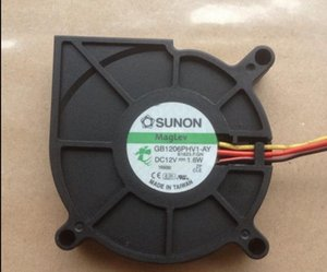 Original SUNON 6015 DC12V 1.6W 6CM GB1206PHV1-AY 3 line turbo blower fan