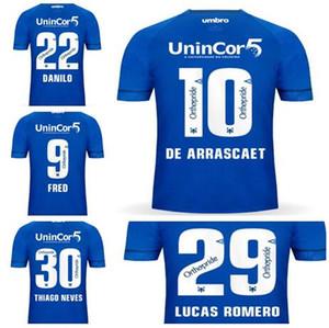 2019 جديد FRED 9 DE ARRASCAETA 10 DANILO 22 THIAGO NEVES 30 LUCAS ROMERO 29 Thai Quality كرة القدم جيرسي قمم ، متجر على الانترنت للبيع مخصص