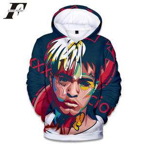 2018 Rapçi XXX Tentacion Pamuk Hoodies tişörtü 3D Hip Hop Şarkıcı xxxtentacion Üniforma mens hoodies Hip Hop kazak