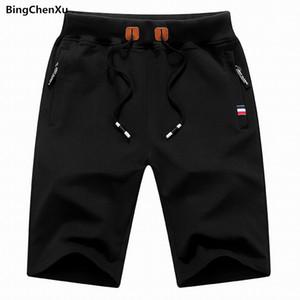 Bingchenxu Marka 2018 Katı erkek Şort Boyutu S-4XL Yaz Erkek Plaj Şort Pamuk Rahat Erkek homme Marka Giyim 656
