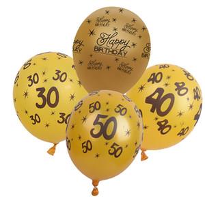 """10 Stücke 12 """"Latex Balloons 30th. 40th 50th Happy Birthday Alter Anzahl Ballons für Home Hochzeit Dekorationen Party Supplies"""