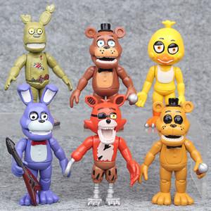 6 Adet / takım Freddys At 10 CM Beş Nights 3 Freddy oyuncaklar Action Figure Gevşek Oyuncaklar sevimli Bebek çocuk Günü Hediyesi manzara Süsler FFA825
