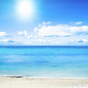 5x7ft vinil azul céu mar praia fotografia estúdio pano de fundo fundo