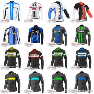 GIANT team Cycling Winter Thermal 양털 저지 탑 세일 파격 남성 MTB Wear bike 고품질 옷 D1102