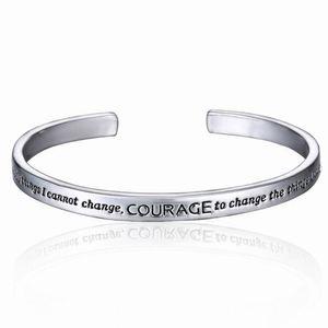 Nova Oração da Serenidade prateado pulseira em uma caixa de presente Love For Women