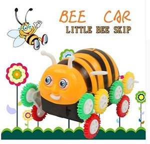 Alta calidad Kids Cute Funny Gifts Electric Colorful Cartoon 9 ruedas Bee 360 Degree Tumbling Car Toy