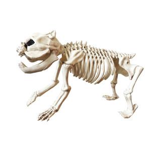 Forniture di Halloween Novità Gag Toys Scheletro di cane 100% plastica animale Scheletro Ossa Spettrale aggiunta alla decorazione di Halloween