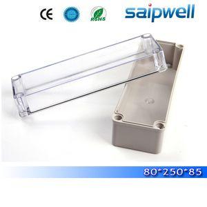 2015 sıcak satış ip66 küçük tip hava geçirmez plastik elektrik kontrol kutusu ile şeffaf kapak 80 * 250 * 85mm DS-AT-0825-1