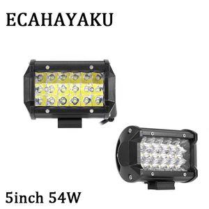 20pcs 5inch 54w led travail barre de lumière spot faisceau voiture moto lampe de brouillard 12v atv suv camion remorque pickup 4X4 4wd conduite lampe