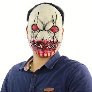 New Halloween Bloody Zombie Terrorist Latex Mask Scary Haunted House Room Escapes Mask