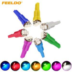 FEELDO 10шт 7-Color T5 1206 3-SMD 0.1W приборной панели автомобиля Gauge Боковые светодиодные лампы лампы DC 12V # 1455