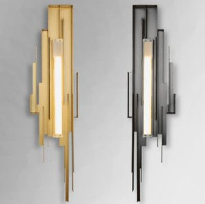 Regron Contemporary Scandinavian Innovative Metal Led Lampade da parete Sconce Club Lampade da parete Applique da parete in rame Hotel Villa Living Room
