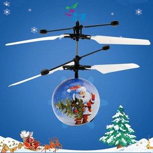 Patrón de Santa Claus Inducción Juguete Aviones Música Fly Ball Novela Suspensión Control remoto Juguete Aviones Bolas de vuelo