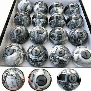 2018 Últimas 57.25 mm Marple + resina Billar Bolas de billar 16 unids conjunto completo de Bolas de alta calidad accesorios de billar China