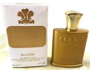 2018 achat chaud nouveau parfum Creed or bouteille haut de gamme pour hommes 120ml, parfum de longue durée, achat sans prix usine