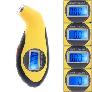 LCD 디스플레이 유니버설 야간 시계 휴대용 전자 정밀 디지털 타이어 압력 게이지 미터 자동차 자전거 CEC_710