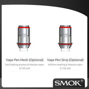 Autentico Smok Vape Pen 22 Strip Mesh Coil 0.15ohm per penna vape 22 light Edition kit 5 pezzi / pacco