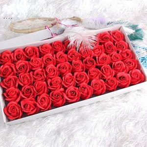Fleur de savon artificiel créatif 3 couches Simulation parfumée Roses de la mode Romantique Valentin Day Decor de mariage Fleurs 21 5zx