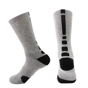 Chaussettes de sport en plein air pour hommes d'hiver de basket-ball chaussettes de basketball de ski élite de football pour hommes en coton à la mode hommes longues chaussettes de vélo jambières