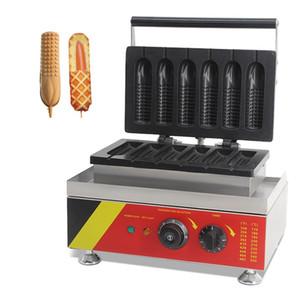 Нержавеющая сталь антипригарным 6 шт. мини кукуруза хот-дог пекарь электрический леденец вафли на палку производители машин утюг гриль приготовления тостер