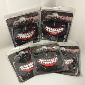 Wholesale 5 Pieces Suspend Artificial Tokyo Ghoul Mask Slipknot Mascara Party Tokio Ghoul Masks No Zipper Half-face Masquette