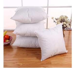 Bedding PP Cotton Cushion Core Pillow interior Home Decor White 40x40 CM For Car Sofa Chair Wholesale Free Shipping