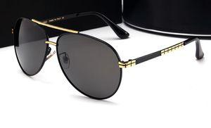 Alta qualidade new sunglasses óculos polarizados dos homens grande quadro espelho de condução high end duplo feixe de óculos 10019 frete grátis