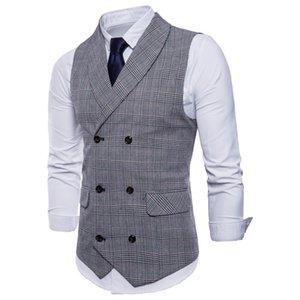 Мужской костюм жилет без рукавов мужской жилет Slim Fit жилет жилет бизнес свадьба классический Masculino социальный пиджак оптом