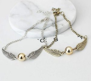 20PCS Vintage Golden Snitch Pocket Charms Bracciale Bangle Wings Cintage Wristband Braccialetto di gioielli per le donne Ragazze Bijoux Accessori