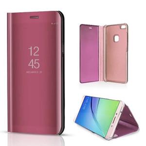 Miroir de luxe Clear View Case pour Huawei Honor Play Note 10 Nouvelle 3 3i P10 P10 Plus prime couverture de téléphone Base Placage Vertical Stand