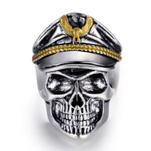 Toda la ventaZMZY Soldado Punk Rock Retro Oficial Vintage Anillos de Dedo General Cráneo Honor Aniversario Anillo Biker Hombres Joyería