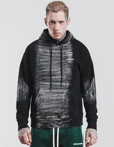 2018 Autumn New Hoodies Hooded Sweatshirts for Mens Clothing Washed Fashion Casual Loose Pullovers