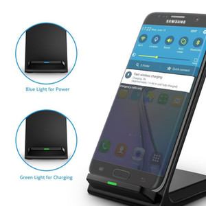 Cargador inalámbrico de alta velocidad 2 bobinas QI Soporte de carga Pad para Samsung Galaxy Note 5 S7 S7 Edge S6 Edge Plus Moblie phone