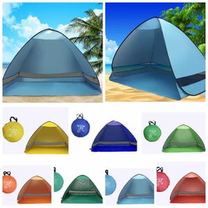 Tente de camping en plein air pour la randonnée en plein air tente de plage automatique portable Pop Up Beach Tente en plein air pour été en plein air LJJK1008