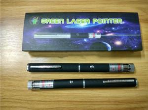 El mejor puntero láser verde 2 en 1 Patrón de tapa de estrella 532nm 5mw Lápiz puntero láser verde con cabeza de estrella Luz de caleidoscopio láser con paquete DHL
