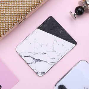Hot sale Floveme multi-functions cellphone pouch fashionable PU leather cellphone stickers wallet card holder cellphone pouch