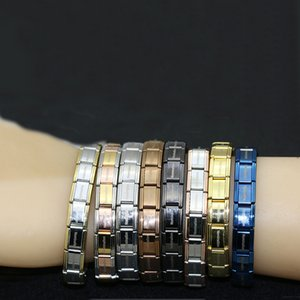 Envío gratis Yahan Nominación de la joyería estilo popular brazalete de la pulsera de acero inoxidable y el brazalete de la moda del estiramiento para todos usan joyas