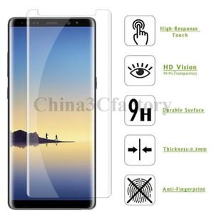 Pour Galaxy Note 9 Verre Trempé Amical 3D Courbe 9H Avant Écran Protecteur Anti-Scratch Film pour Samsung S9 S9Plus S8 Note8