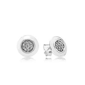 Autentici Orecchini dell'argento sterlina 925 di cristallo per i gioielli con orecchini di nozze confezione regalo
