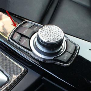 In fibra di carbonio strisce per BMW Serie 5 GT F10 2012-17 Console Multimedia Button accessori di copertura Trim auto interni
