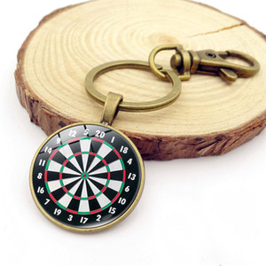 Брелок для мишеней для дартс Восстановить брелок для ключей с древним временем и кулоном для ключей Дартс для любителей спорта