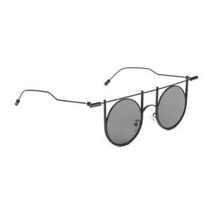 Reforço de metal Rodada Óculos De Sol Dos Homens 2018 nova Personalidade Hip hop rodada armação de metal óculos de sol marca designer Fresco Oculos