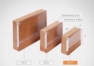 A5 / A6 magnétique menu titulaire conseil bois bloc acrylique cadre nom carte présentoir publicité en bois table bureau signe prix étiquette titulaire
