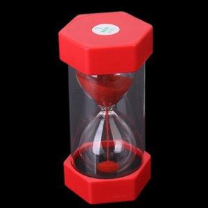 Sablier 16 * 8.2CM rouge de sécurité de minuterie de sable de minutes de sable