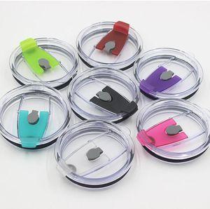 Tumblers Bardaklar Straw Kapaklar Bardaklar leakproof kapakları Splash Temizle Dökülme Kanıtı Kapaklar Kapaklar için Renkli 10pcs 7 renk