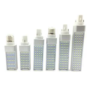 7W 9W 11W 13W 15W LED 전구 조명 E27 G24 주도 수평 플러그 옥수수 빛 AC 85-265V