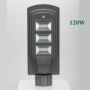 Luces de la calle solar LED 60W 40W 20W 30 85-100LM Lámpara All-in-One Impermeable Panel al aire libre ABS PIR Sensor de movimiento Directo Shenzhen China Fábrica
