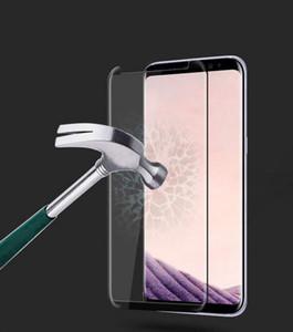 Superfície de vidro temperado de membrana para Samsung S9 S9 Plus Pacote de varejo 3D Curvo membrana de flexão Quente
