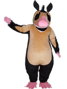2018 High quality hot a black mouse mascot costume with brown belly for adult to wear