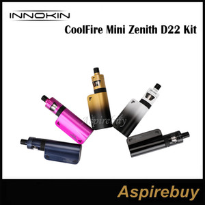 Innokin CoolFire Mini Zenith D22 Kit 1300mah CoolFire Mini batería E Cigarette Vape 40W Max con tanque Zenith con Plexus Z Coil